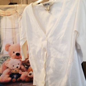 Girls Size 6/6X Ivory Button up Sweater